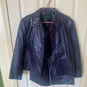 Vintage purple leather Danier suit